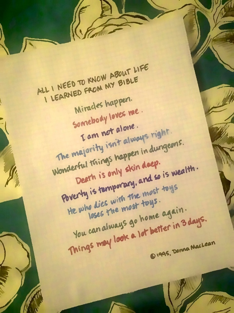 All I Need to Know about Life I Learned from my Bible, by Donna MacLean